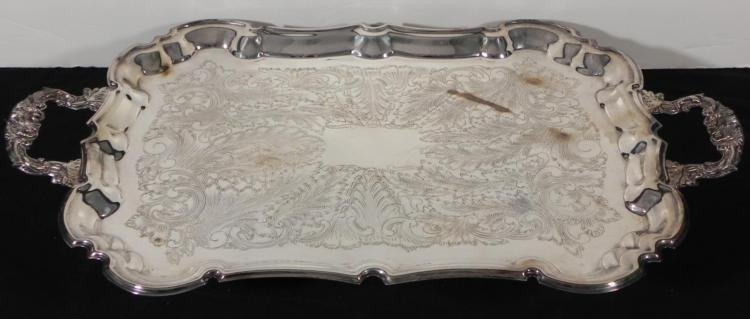 Lehman Bros. Large Silver Plated Electric Warming Tray