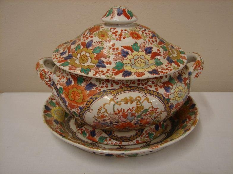 Large Oriental Tureen and Plate