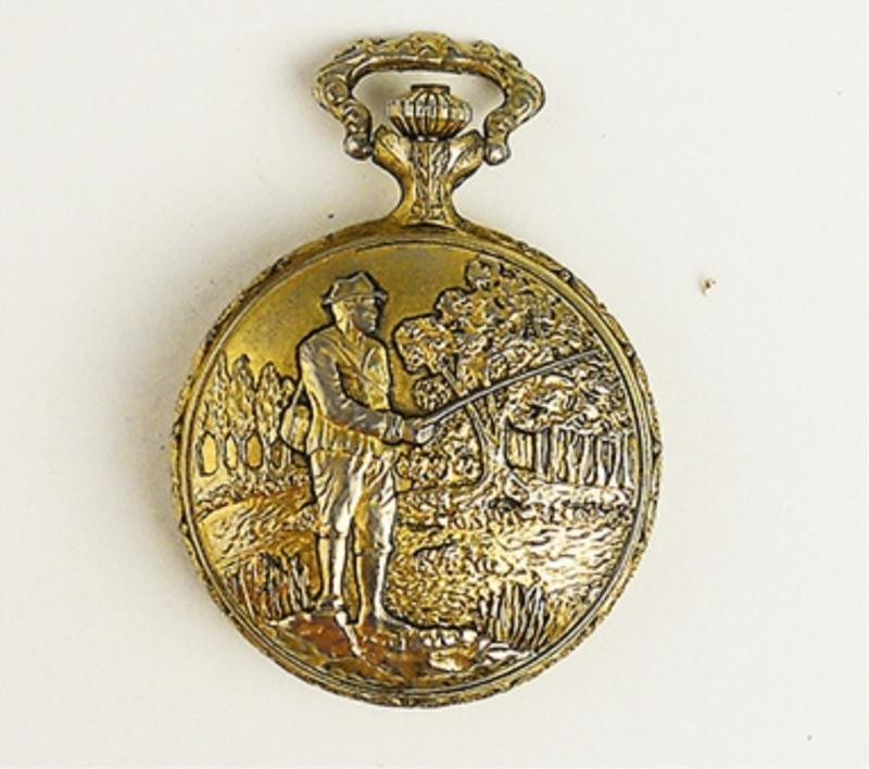 Pencron Men's Carved Pocket Watch