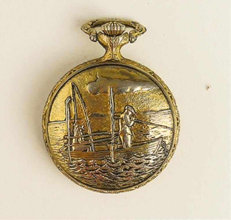 Pencron Men's Carved Pocket Watch - 2
