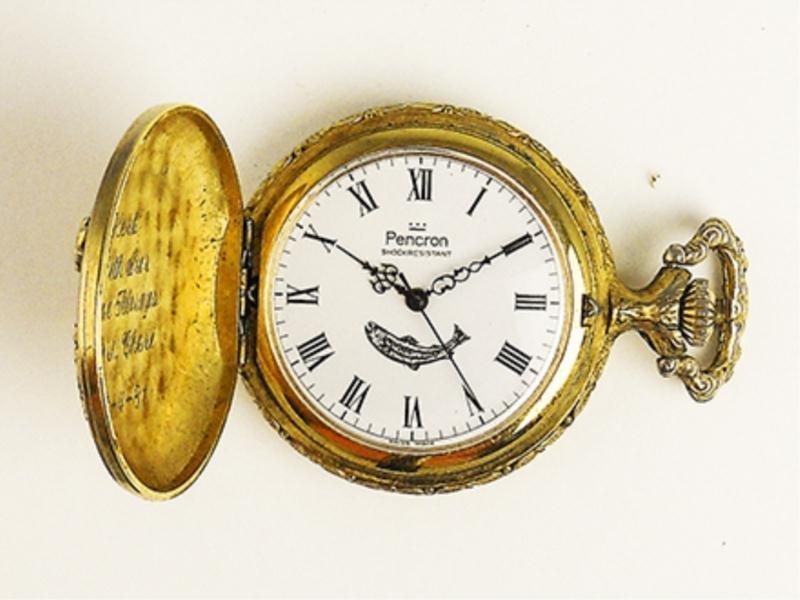 Pencron Men's Carved Pocket Watch - 3