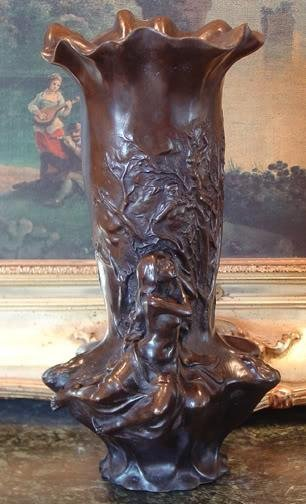 Gorgeous Bronze Sculpture Ornate Vase