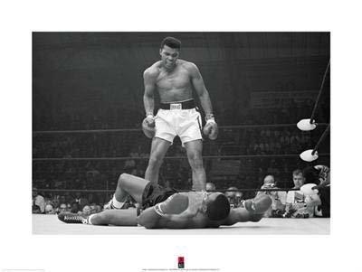 Muhammad Ali vs Sonny Liston Boxing Match Photo Print