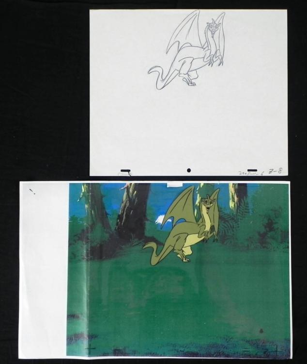 Herculoids Drawing Cel Original Animation Chilling Zok