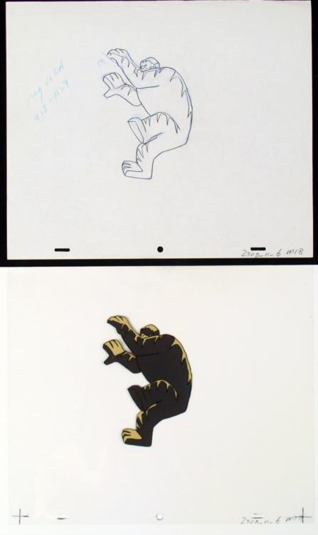 Original Production Cel Getting Out Drawing Herculoids