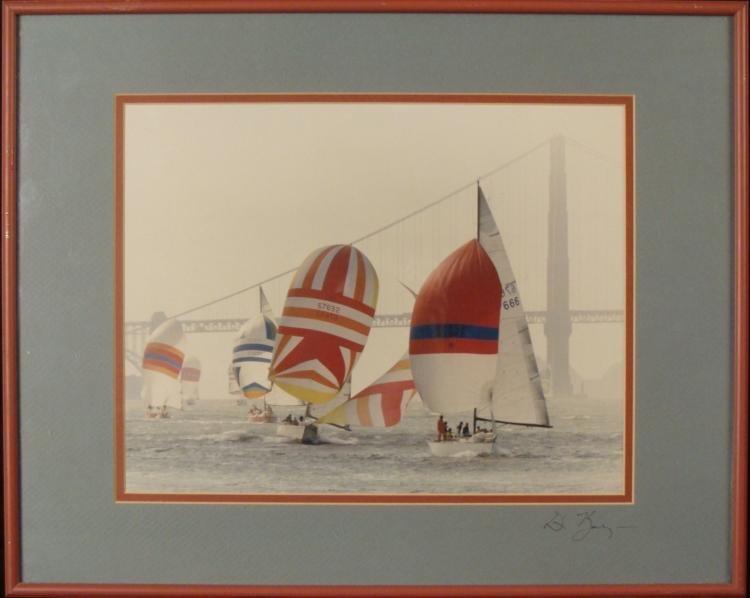 Boats on San Francisco Bay Signed Framed Photograph