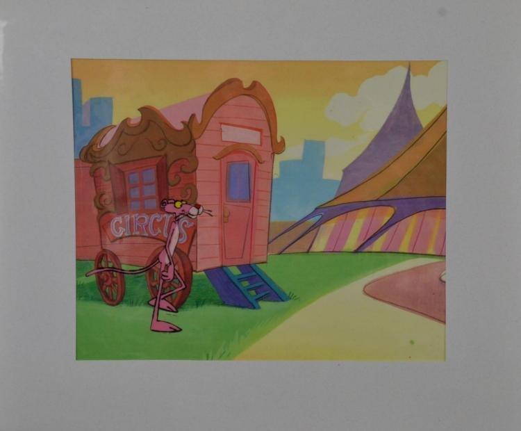 Pink Panther Original Production Cel & Drawing Big Top