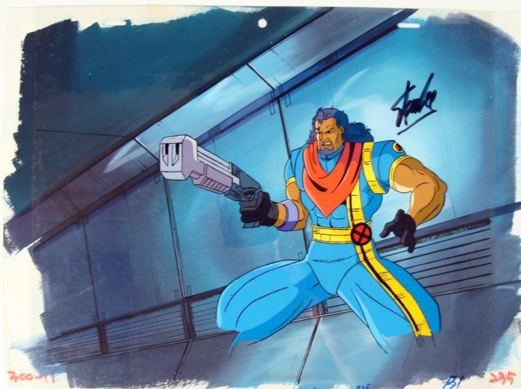 Original All Day Stan Lee Signed Animation Cel X-MEN