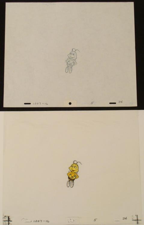 Bee Buzz Original Cel Animation Drawing Cheerios Full