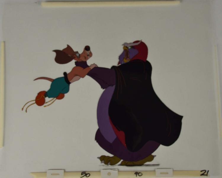 Rock-A-Doodle Original Animation Production Cel Duke