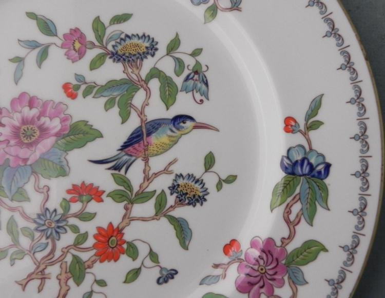 14) Aynsley Pembroke China Dinner Plates London - 2