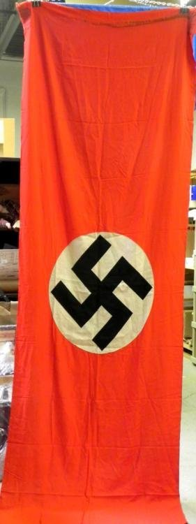 """WWII NAZI LARGE BANNER-ORIG 120X40""""-DOUBLE SIDED"""