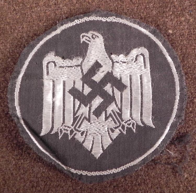 ORIG NAZI WEHRMACHT SPORTS OFFICIALS UNIFORM PATCH