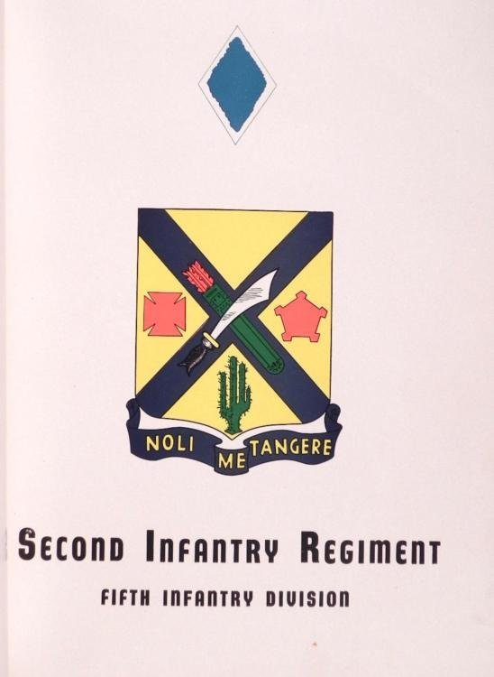 US SECOND INFANTRY REGIMENT HISTORY IN WWII BOOK