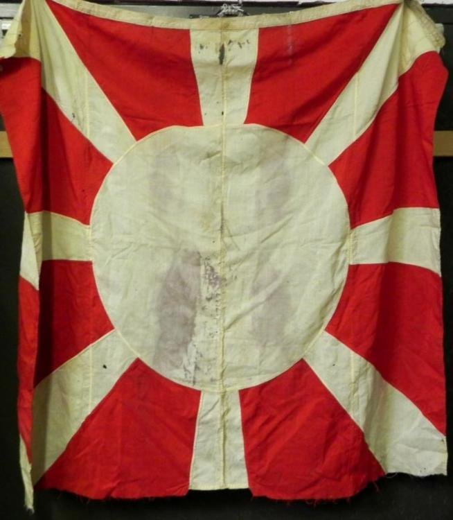 JAPANESE 8 RAY RISING SUN NAVY ENSIGN FLAG-EARLY 1900s