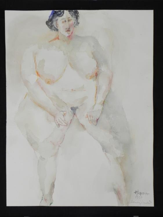 Betty Snyder Rees Original Painting Nude Woman Figure