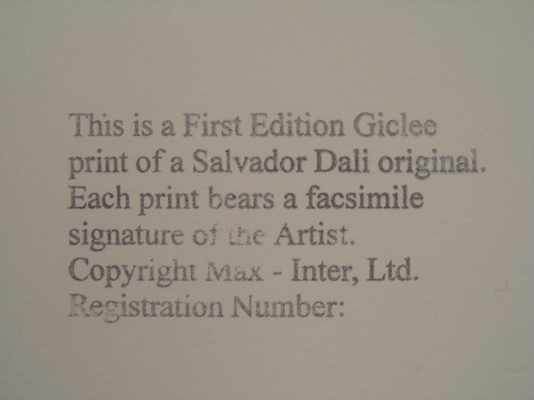 Salvador Dali : Chalice of Love Art Print - 3