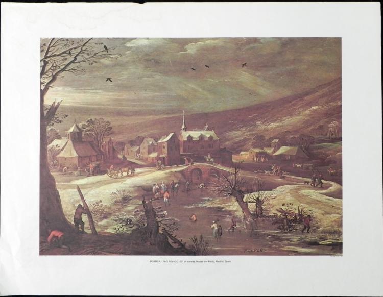Momper Pais Nevado Lithograph Art Print
