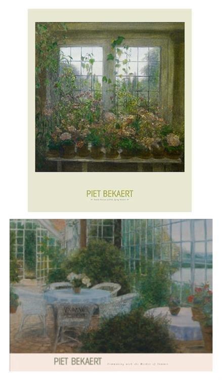 2 Piet Bekaert Prints Mother of Summer, Spring Flowers