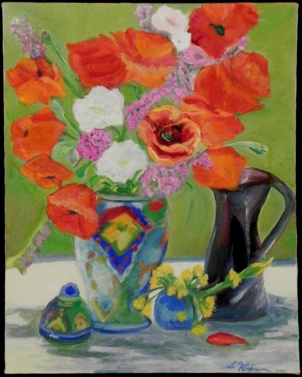 Susan Widran Kerstein Original Painting Flowers