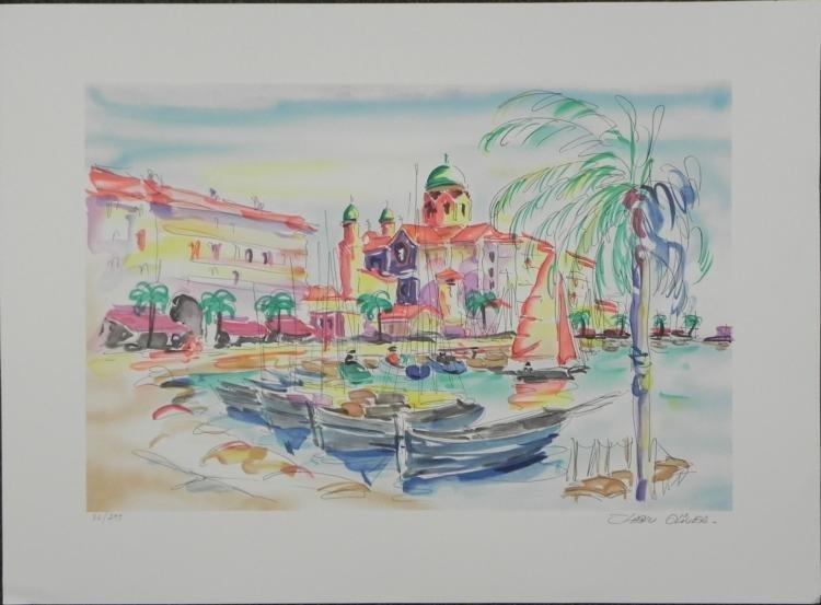 Zladku Oliver Port de Saint Tropez S/N Lithograph Print