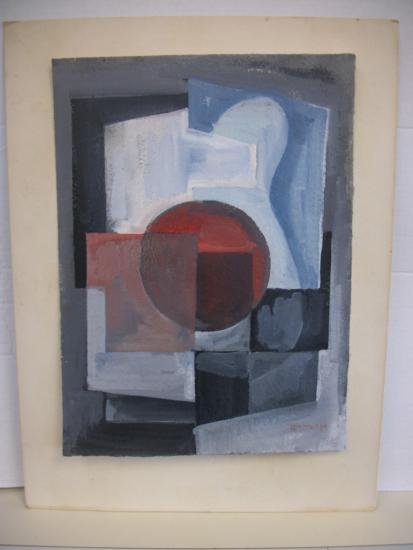 Talented Geometric Abstract Signed - BISTTRAM