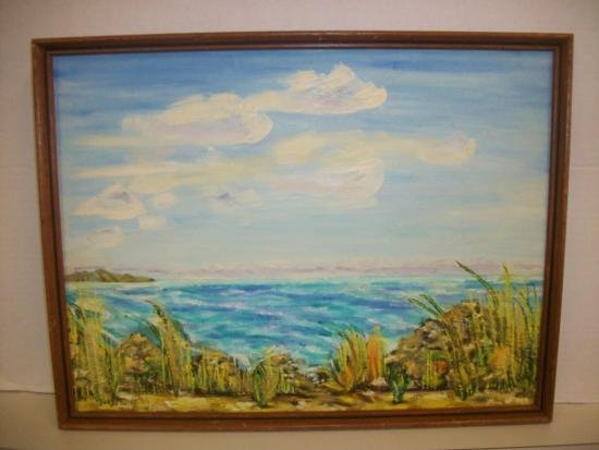 Vintage Modern Coastal Signed/Dated - Waldo Peirce '66