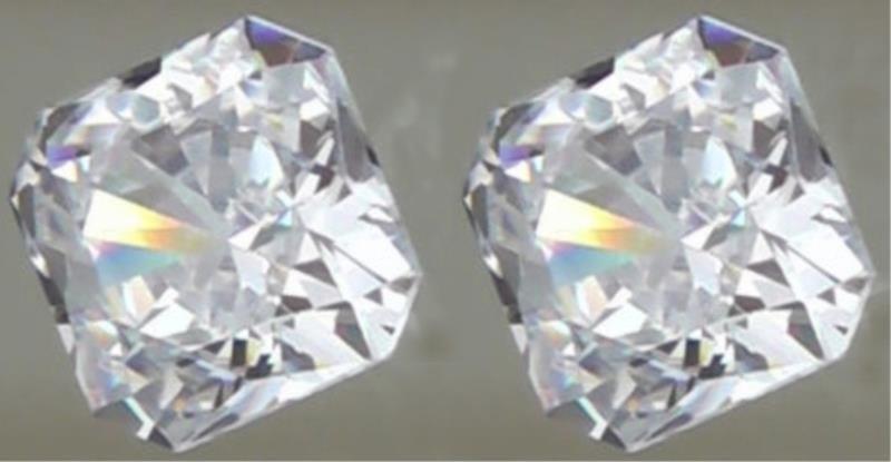 Pair Bianco 1 Ct. Flanders Cut Diamonds