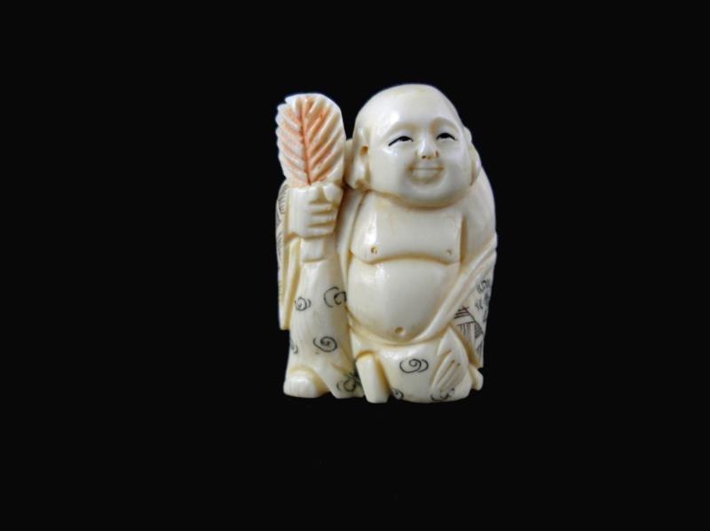 Carved Bone Netsuke Figure