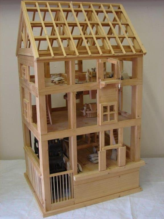 Pine Scale Model of a Mill complete with Scale ma