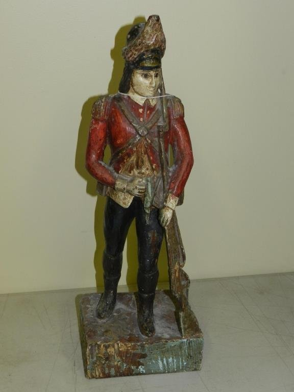 Hand Carved Wooden Soldier