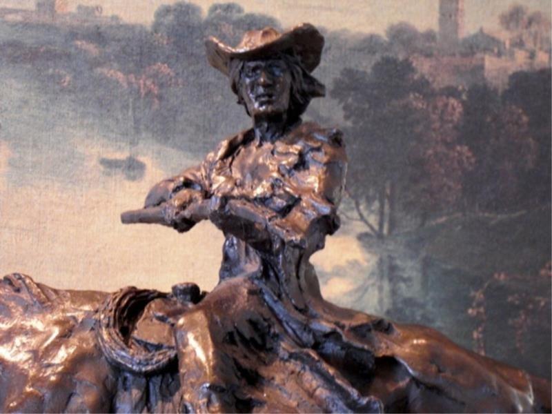Mexican Charro Bronze Sculpture