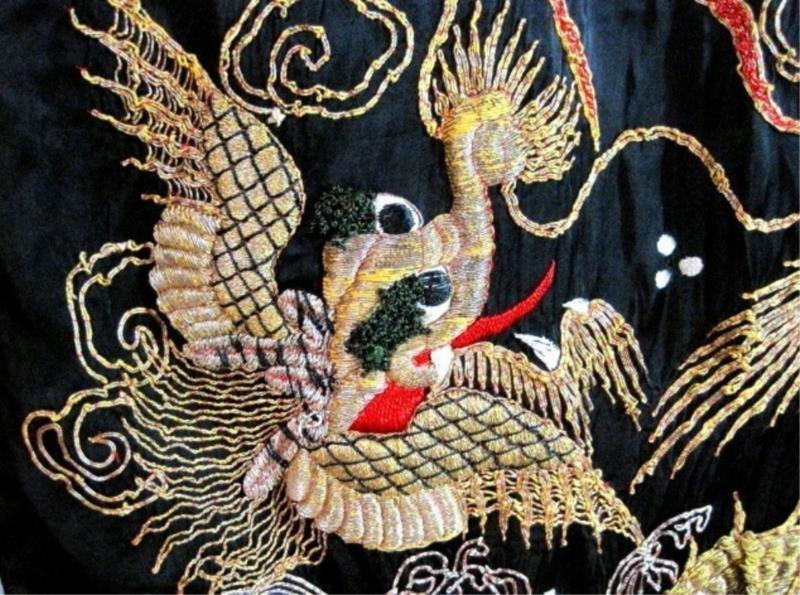 Embroidered Kimono WW 11 Soldier Souvenir