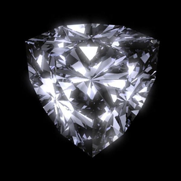 Bianco 3 carat Trillion Cut Diamond