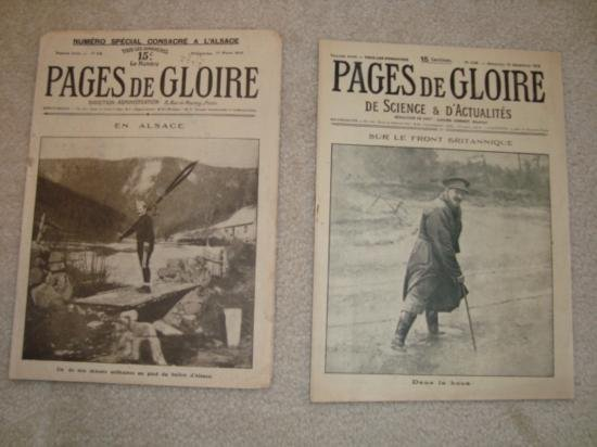 Set 2 Authentic French newspapers WWI 1915 & 1916 Pages