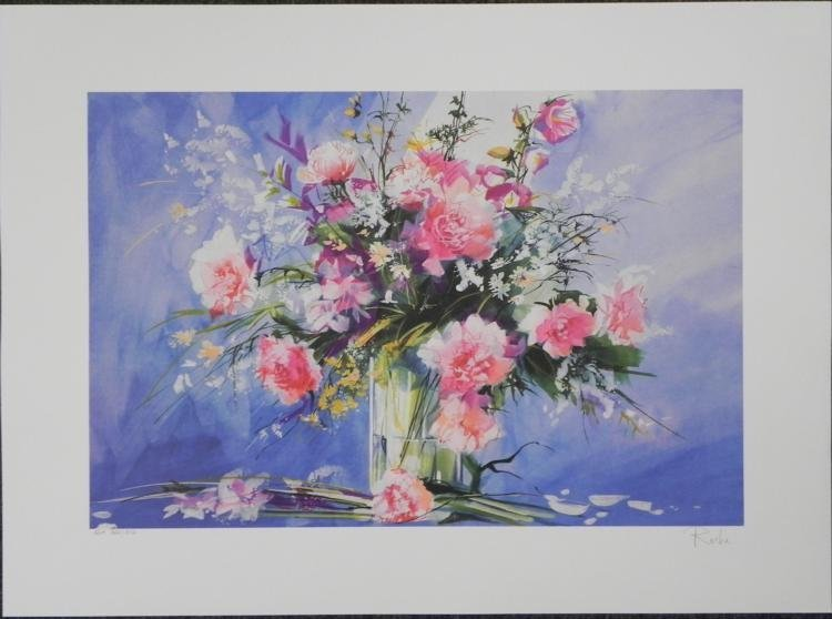 Roche Flowers in a Vase Signed and Numbered Litho Print