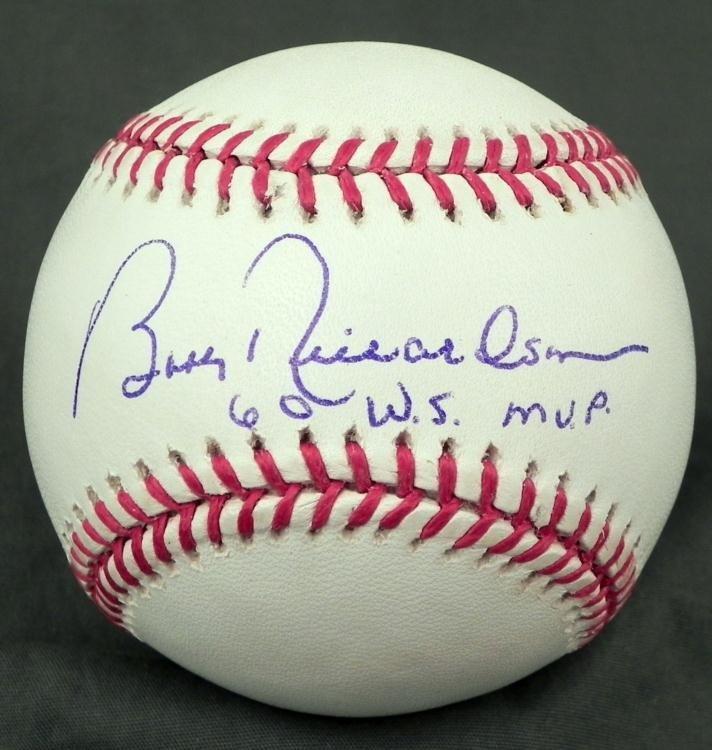 Bobby Richardson New York Yankees Autographed Baseball