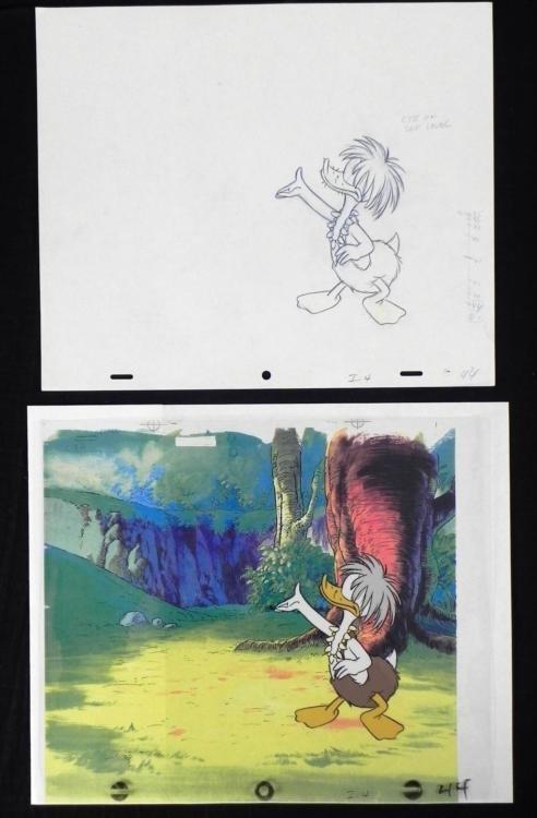 Donald Duck Cel Animation Drawing Original Practicing