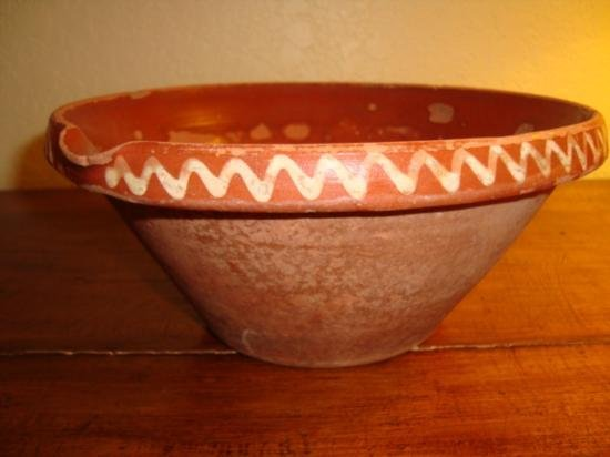French Alsatian mixing bowl tian late 1800's
