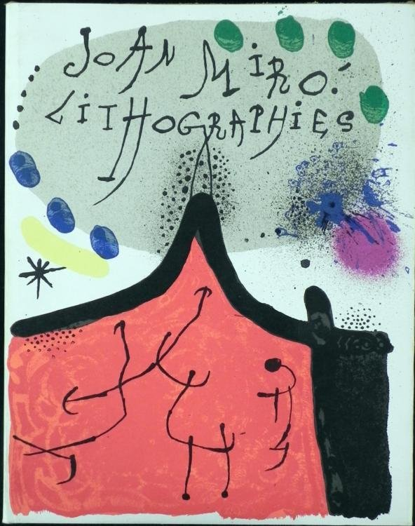 Joan Miro Lithographies Book w/Lithographs 1st Ed 1972