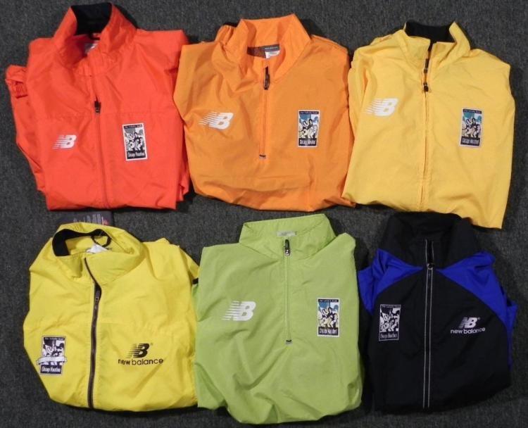 6) Chicago Marathon New Balance Windbreaker Jackets