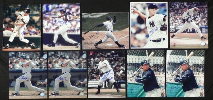 10) 1980s-2006 Yankees Signed Photos- Bubba Crosby