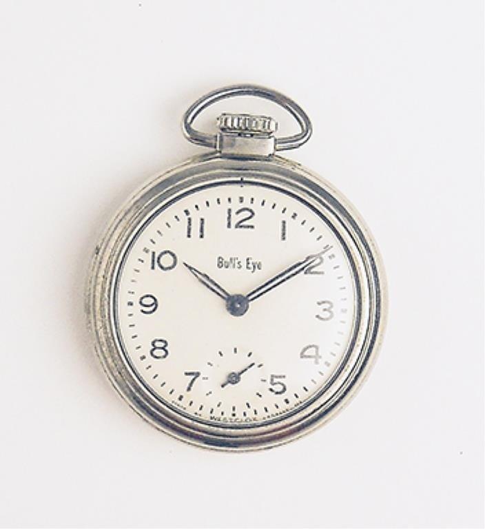 Men's Antique Bull's Eye Pocket Watch