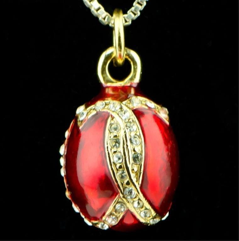 Venezia Faberge Inspired Egg Pendant