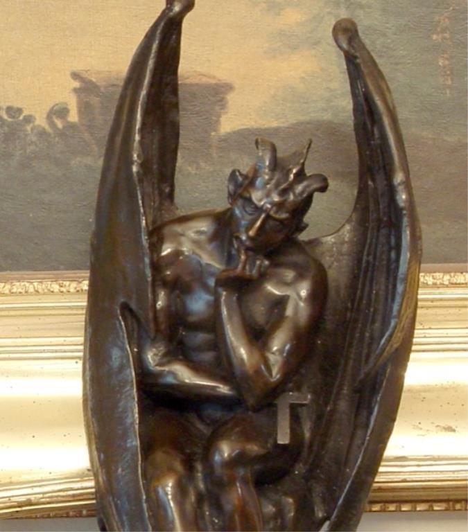 Majestic Bronze Sculpture Gargoyle - Lucifer