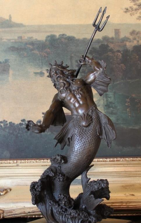Bronze Sculpture Poseidon God of the Sea
