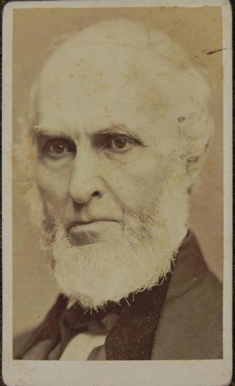 Antique CDV Photograph J.G. Whittier Poet Abolitionist