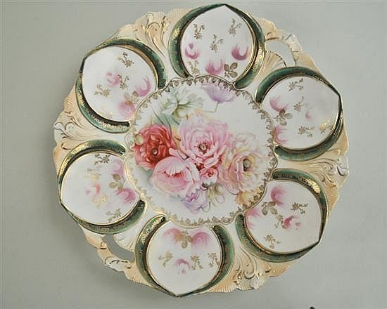 R.S. Prussia Sculptural Handled Plate