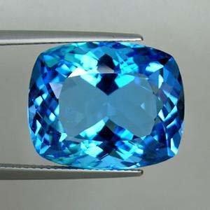 23.52 carat Cushion Cut Swiss Blue Topaz
