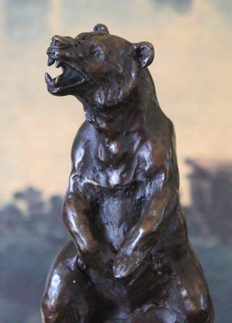 Magnificent Bear Bronze Sculpture
